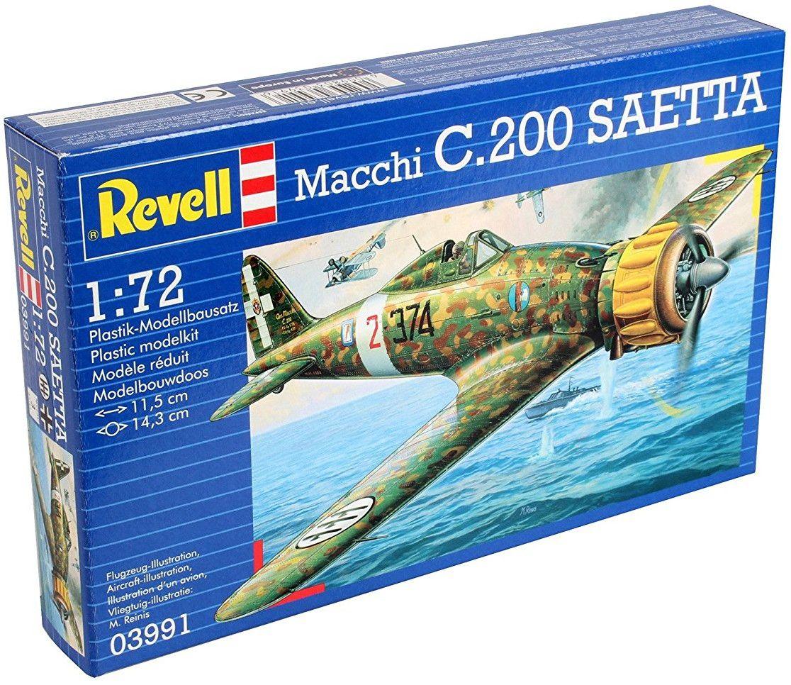 Сглобяем модел на военен самолет Revell - Macchi C.200 SAETTA (03991) - 3