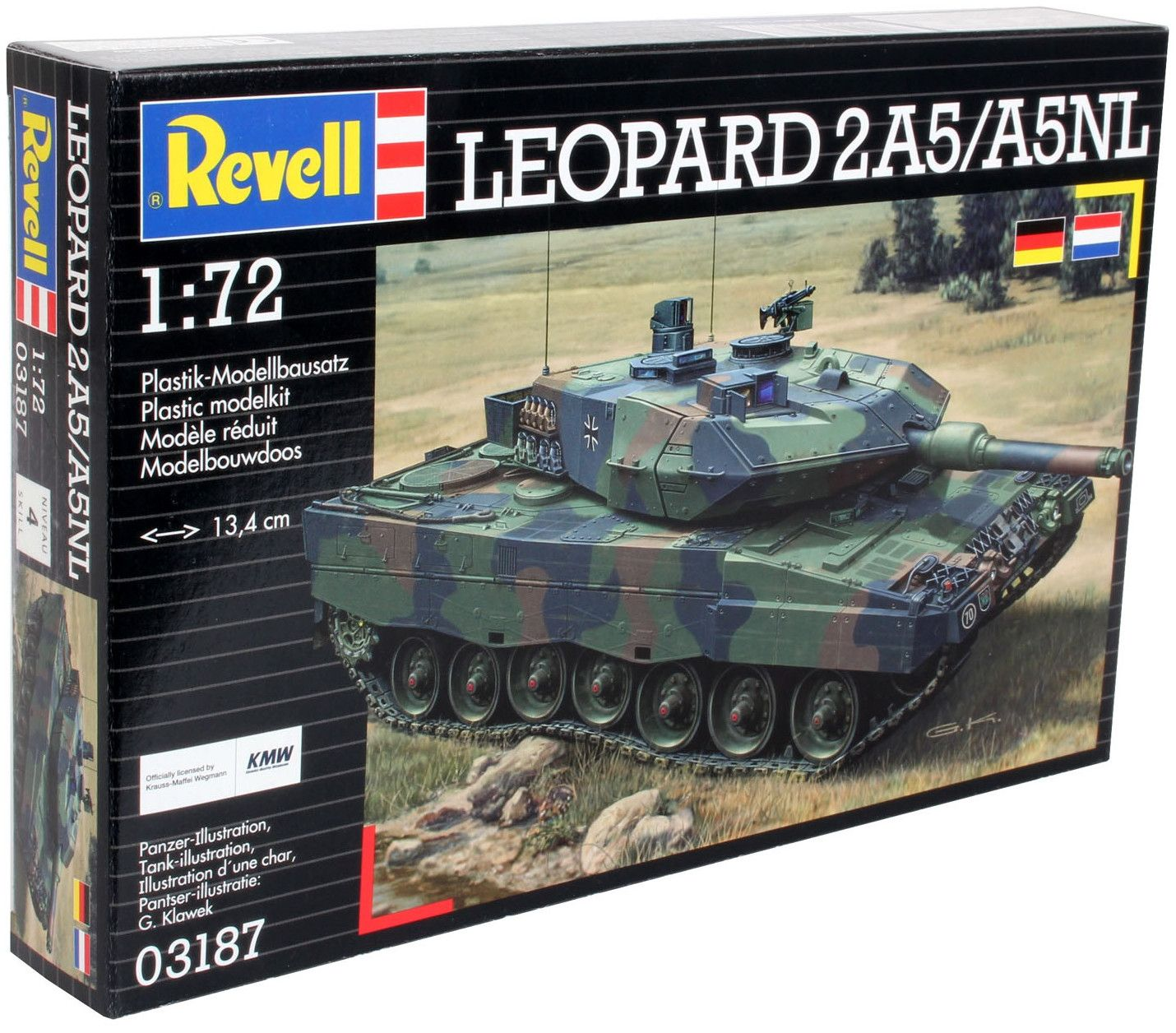 Сглобяем модел на танк Revell - LEOPARD 2 A5 / A5 NL (03187) - 5