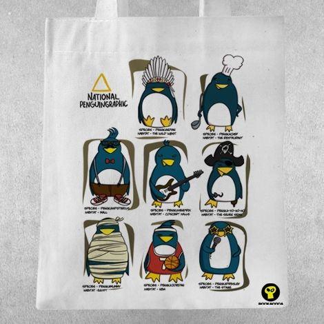 Памучна чанта RockaCoca Penguin All Star - 1