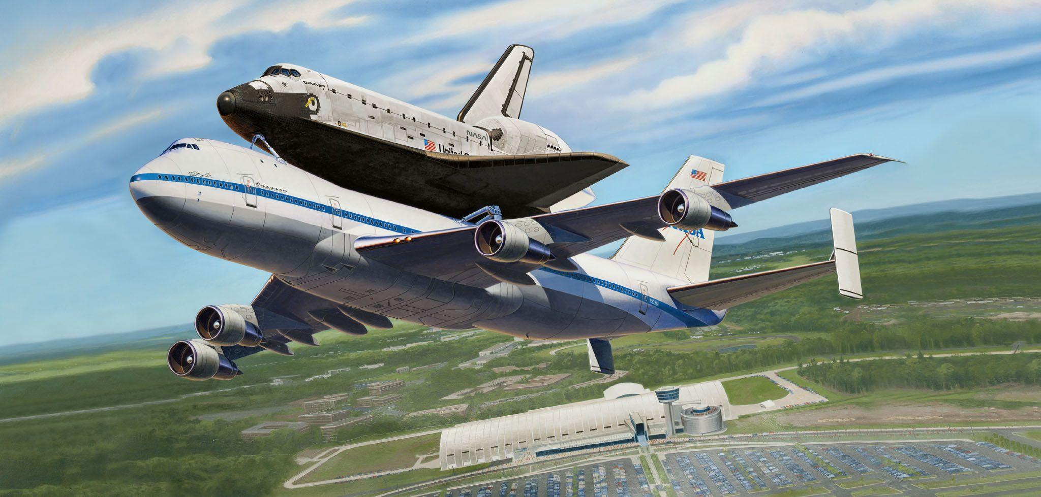 Сглобяем модел на самолет Revell - Boeing 747 SCA & Space Shuttle (04863) - 2