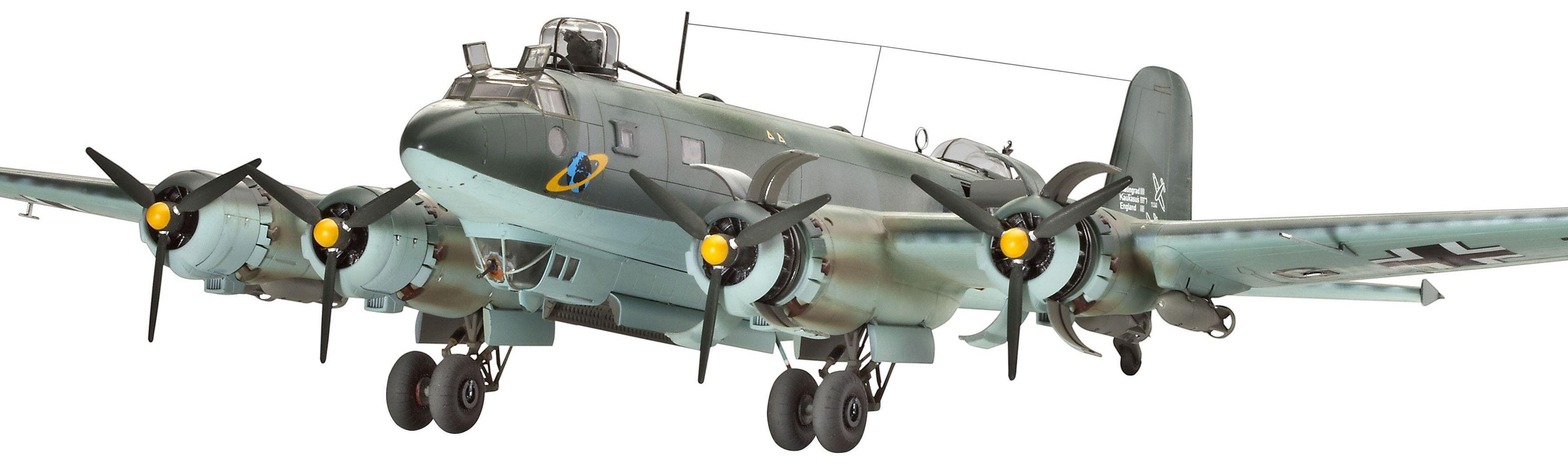 Сглобяем модел на военен самолет Revell Focke Wulf - Fw 200 C-4 CONDOR Bomber (04678) - 1