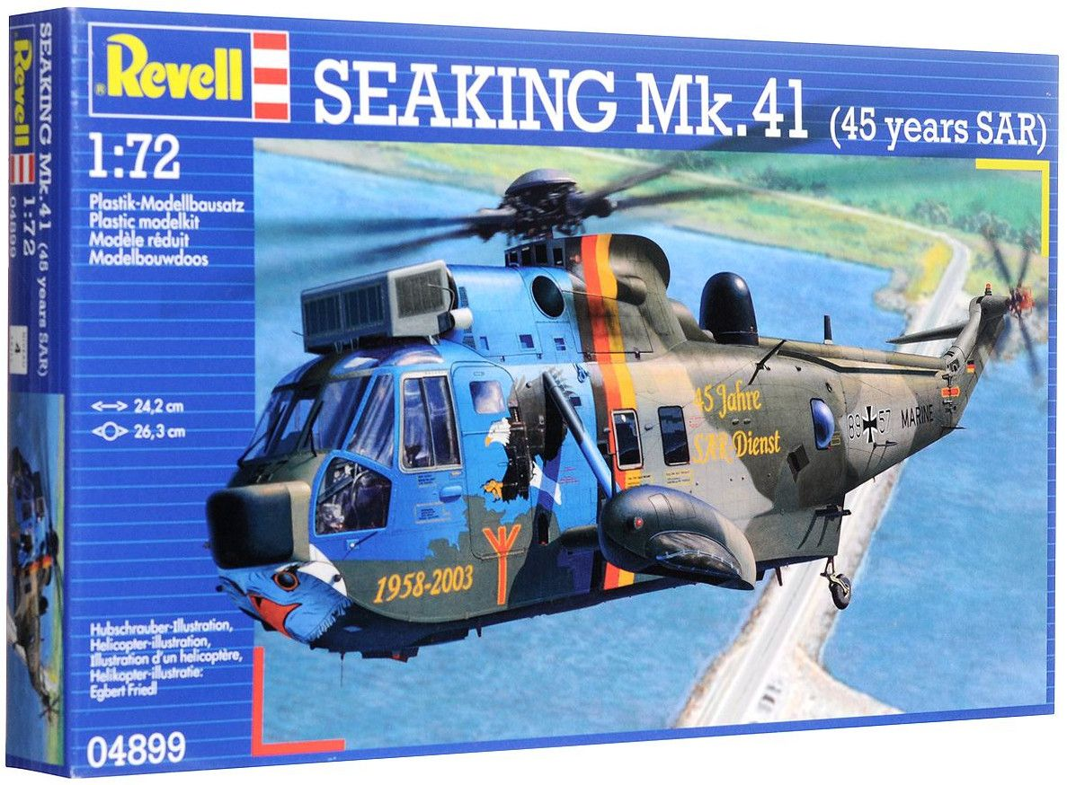 Сглобяем модел на военен хеликоптер Revell Westland - Sea King Mk.41 (45 years SAR) (04899) - 2