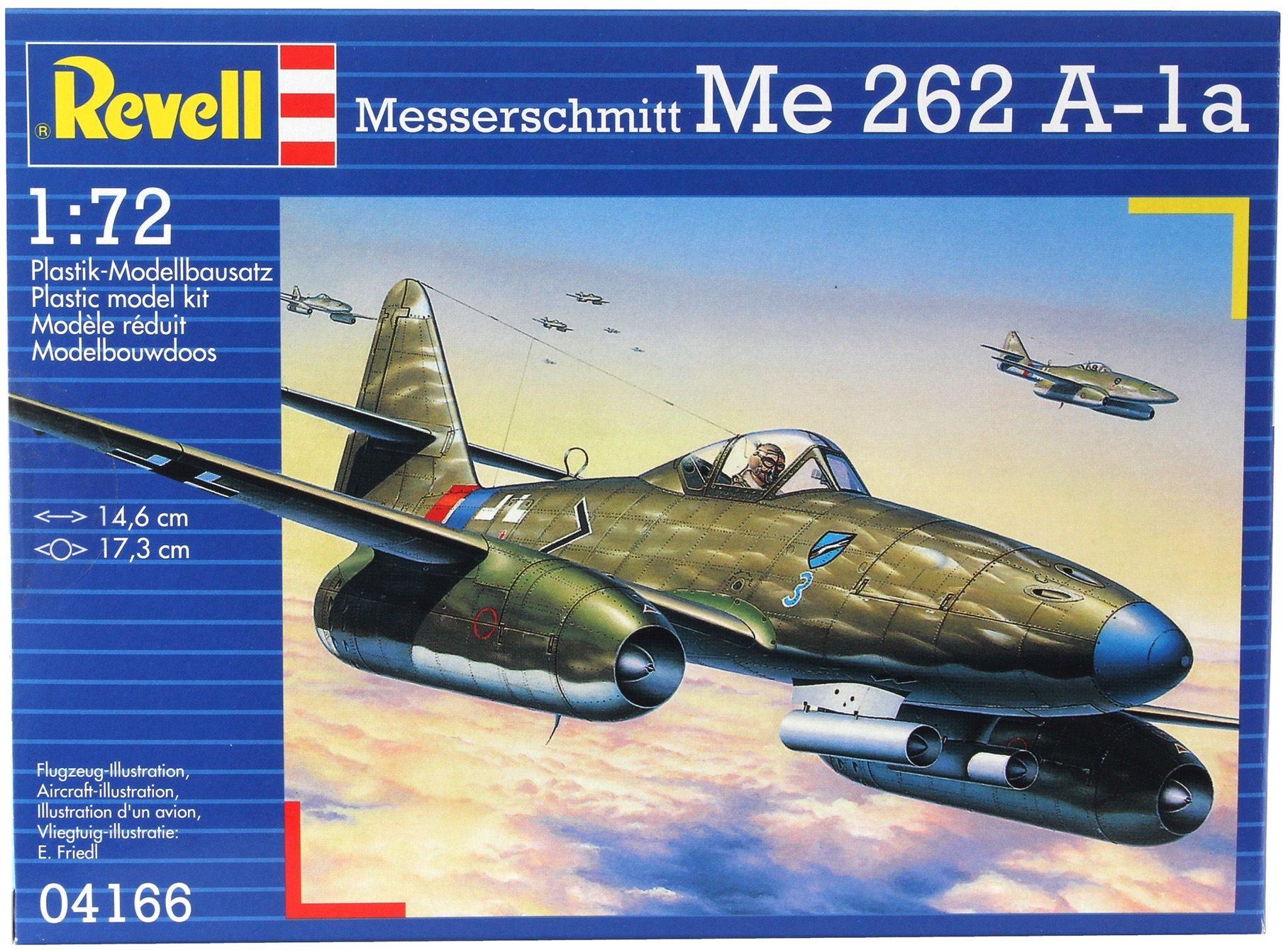 Сглобяем модел на военен самолет Revell - Me 262 A1a (04166) - 3