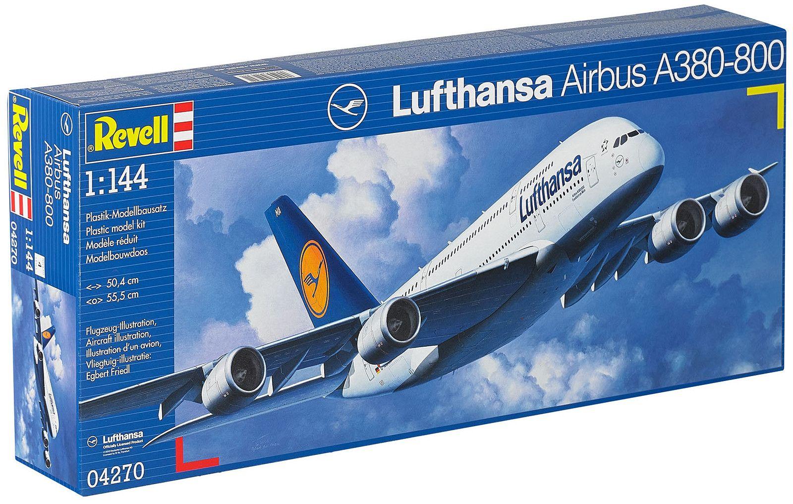 Сглобяем модел на самолет Revell - Airbus A380 Lufthansa (04270) - 3