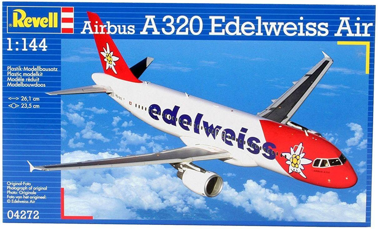 Сглобяем модел на самолет Revell - Airbus A320 Edelweiss Air (04272) - 2
