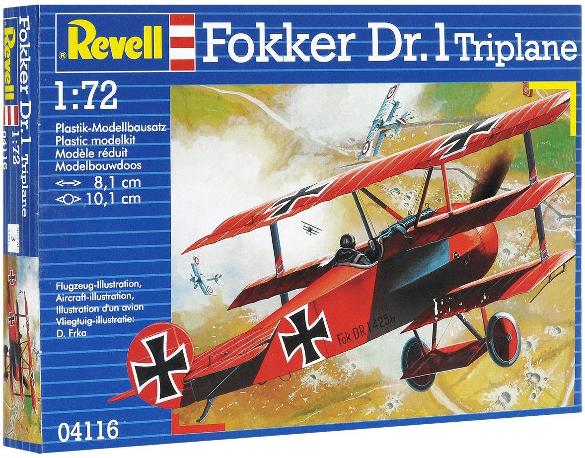 Сглобяем модел на военен самолет Revell - Fokker Dr. 1 Triplane (04116) - 7