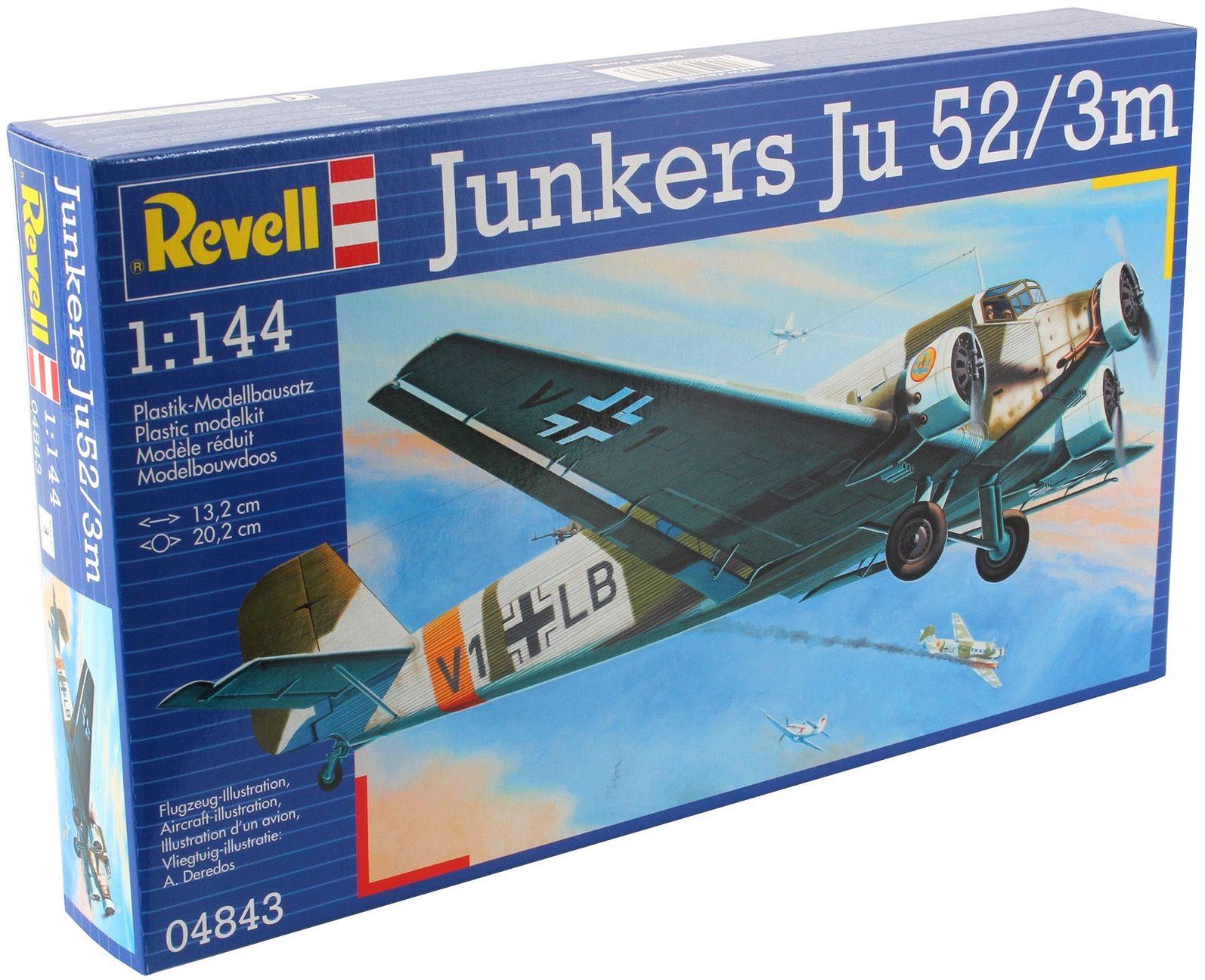 Сглобяем модел на военен самолет Revell Junkers - Ju52/3m (04843) - 5