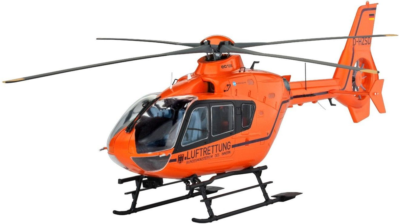 Сглобяем модел на хеликоптер Revell Eurocopter - EC135 LUFTRETTUNG (04644) - 1