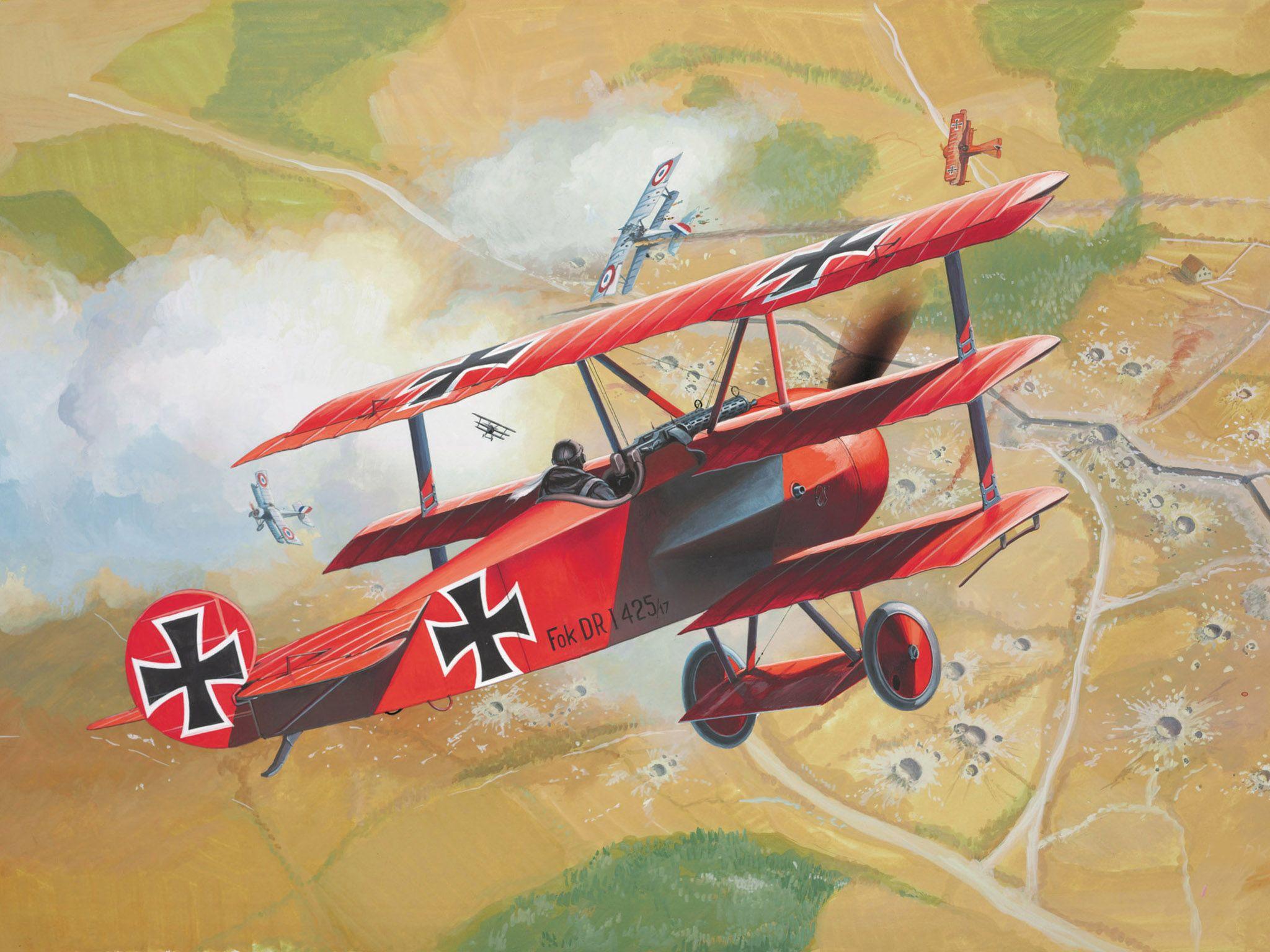 Сглобяем модел на военен самолет Revell - Fokker Dr. 1 Triplane (04116) - 6