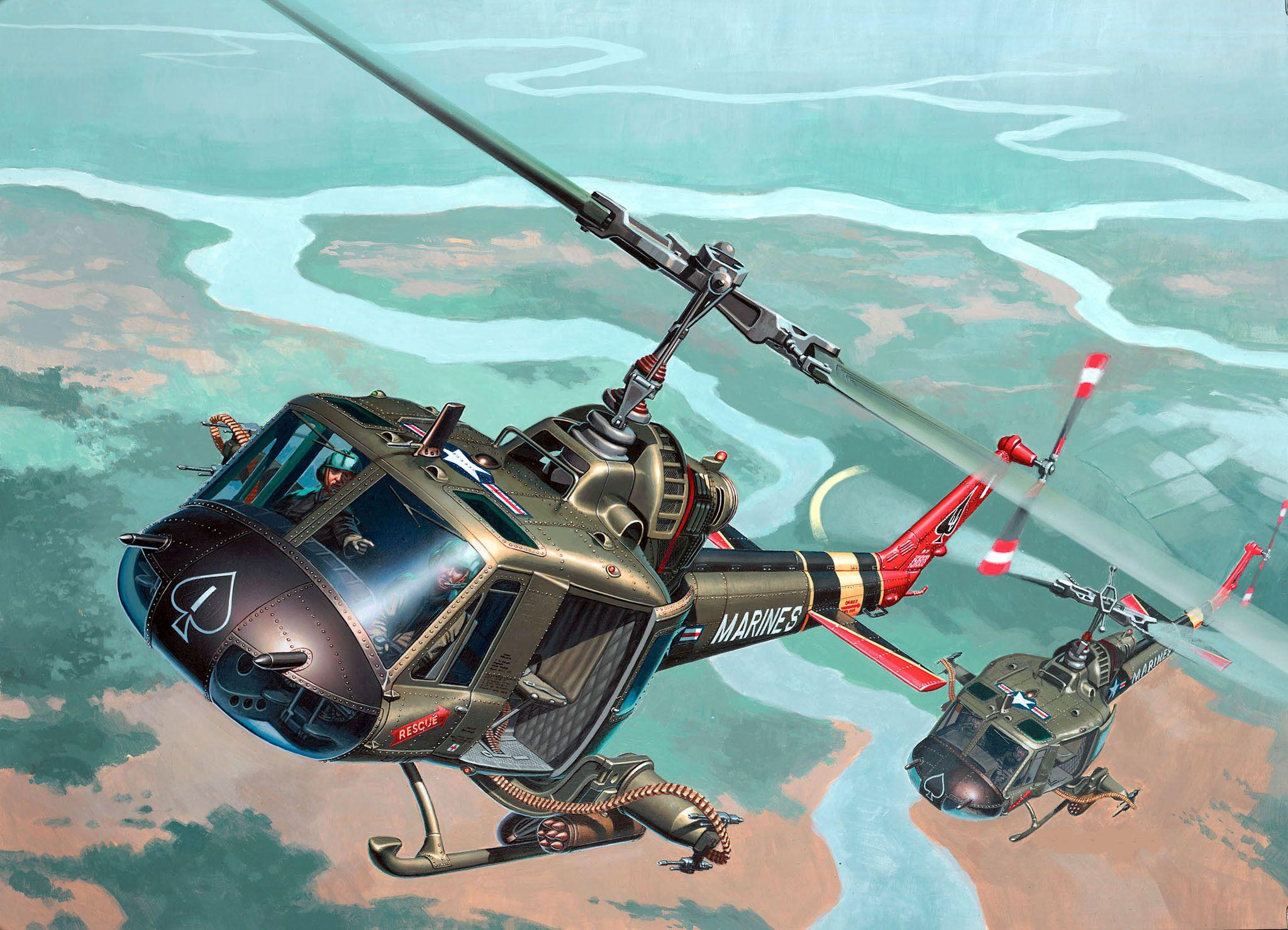 "Сглобяем модел на военен хеликоптер Revell - Bell UH-1 ""Huey Hog"" (04476) - 2"