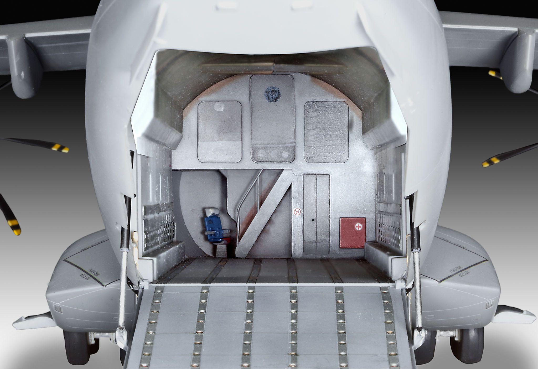 Сглобяем модел на военен самолет Revell - Airbus A400 M Grizzly (04800) - 5