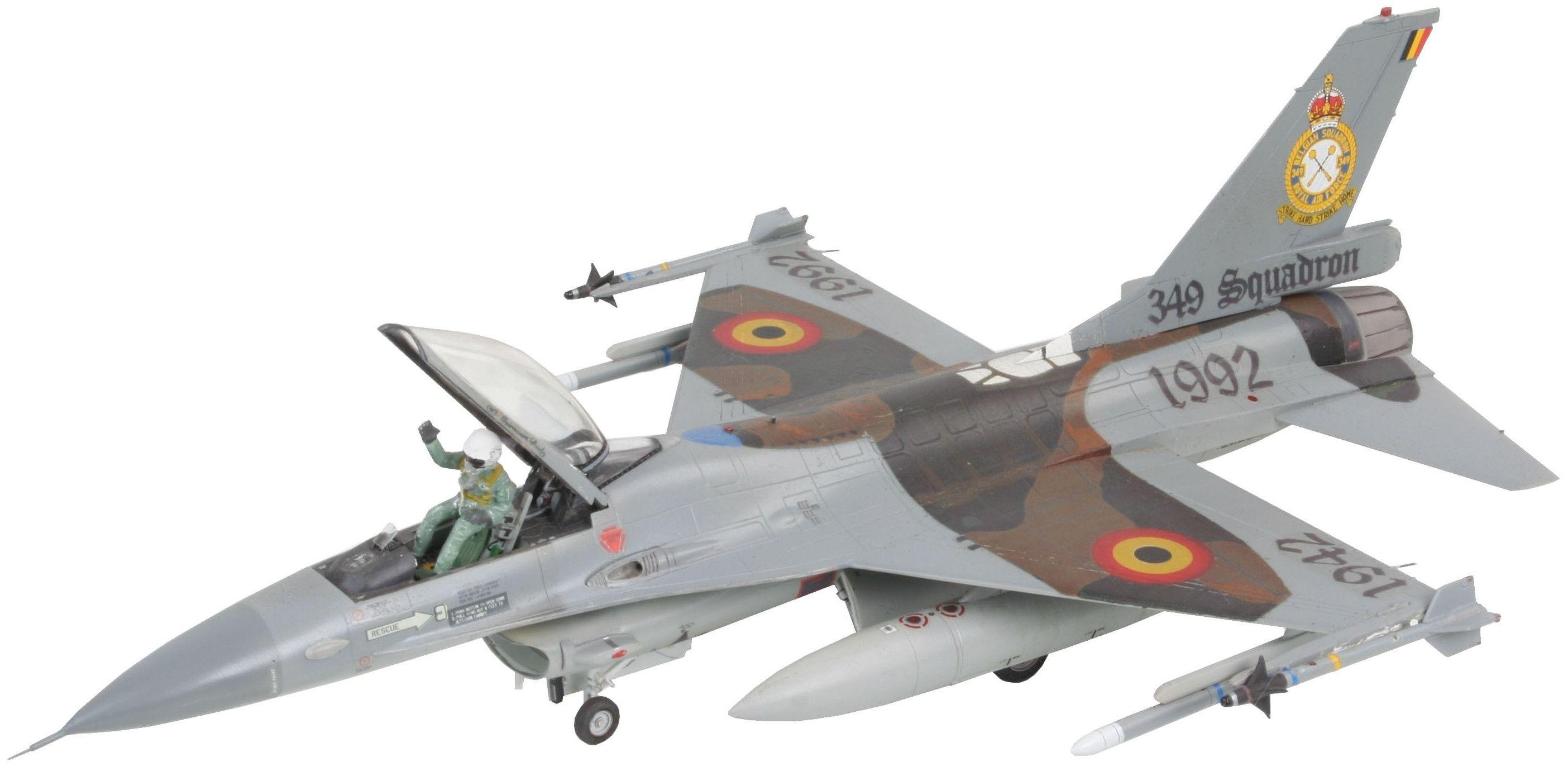 Сглобяем модел на военен самолет Revell - F-16A Fighting Falcon (04363) - 1