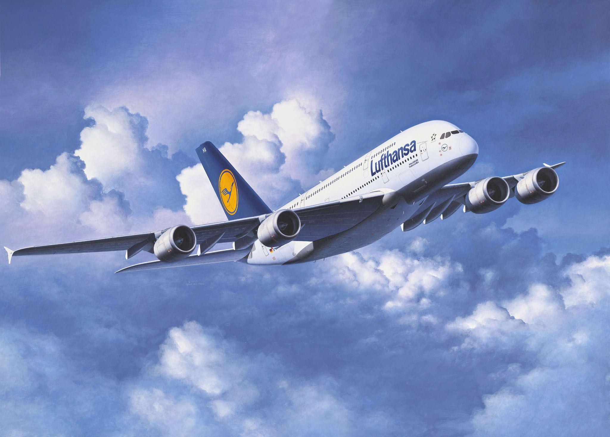 Сглобяем модел на самолет Revell - Airbus A380 Lufthansa (04270) - 2