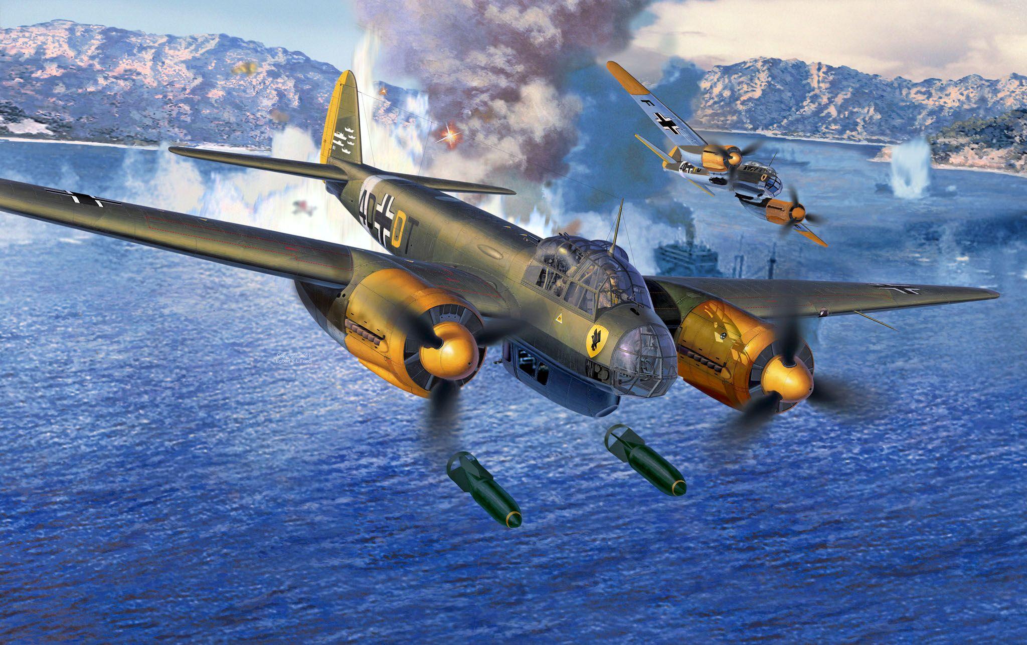 Сглобяем модел на военен самолет Revell Junkers - Ju88 A-4 Bomber (04672) - 2
