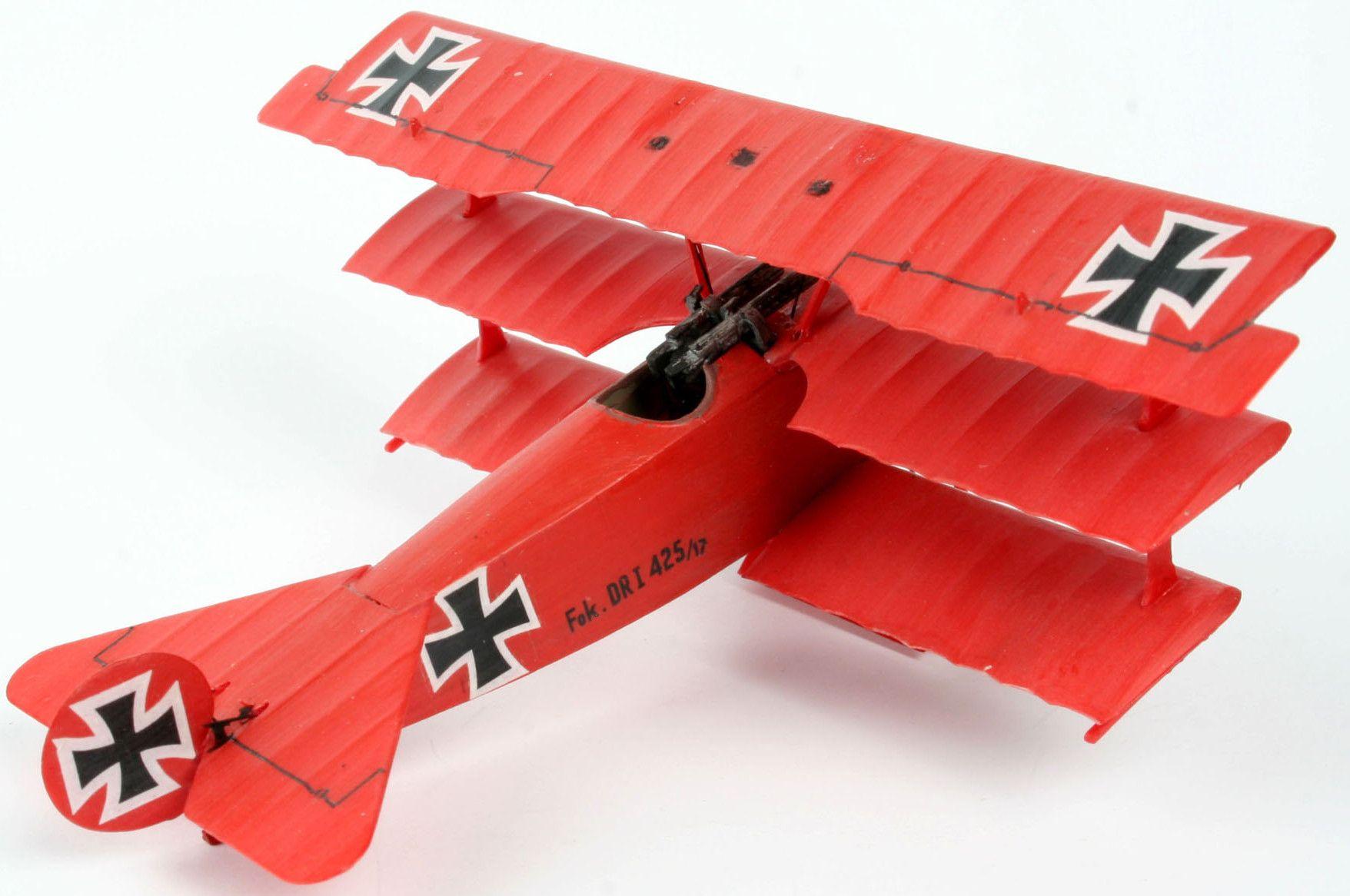 Сглобяем модел на военен самолет Revell - Fokker Dr. 1 Triplane (04116) - 2