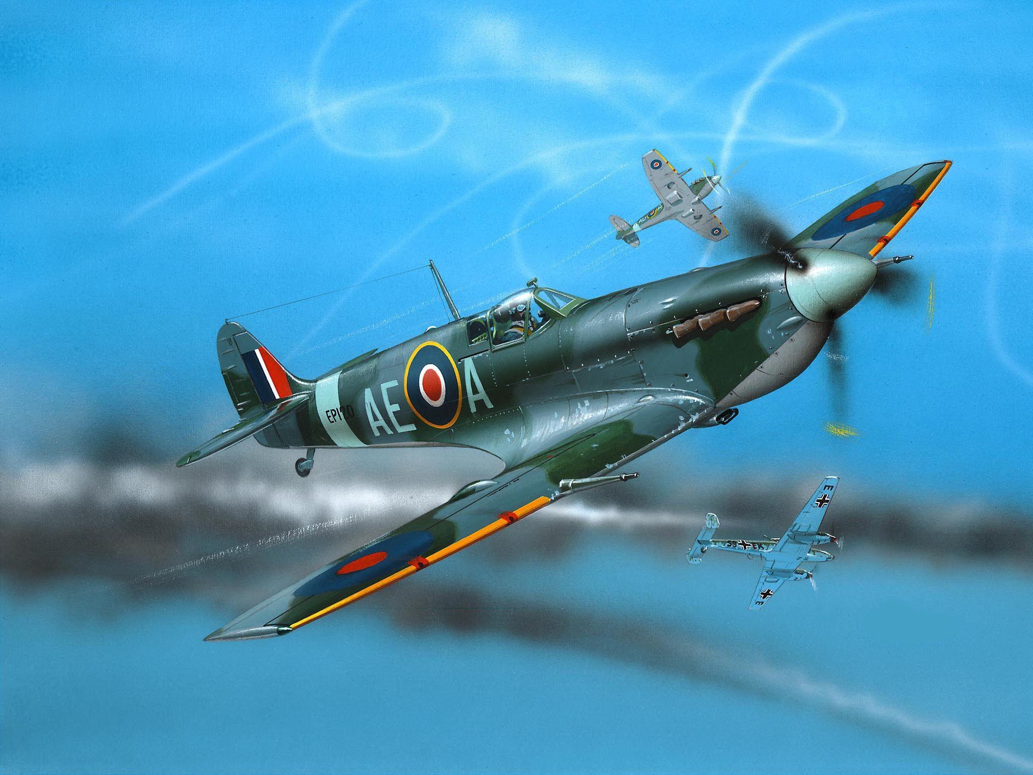 Сглобяем модел на военен самолет Revell - Spitfire Mk.V (04164) - 2