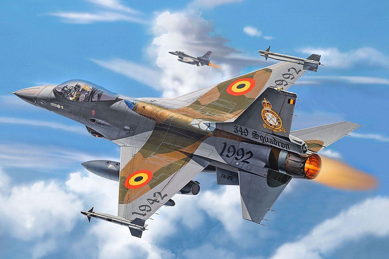 Сглобяем модел на военен самолет Revell - F-16A Fighting Falcon (04363) - 2