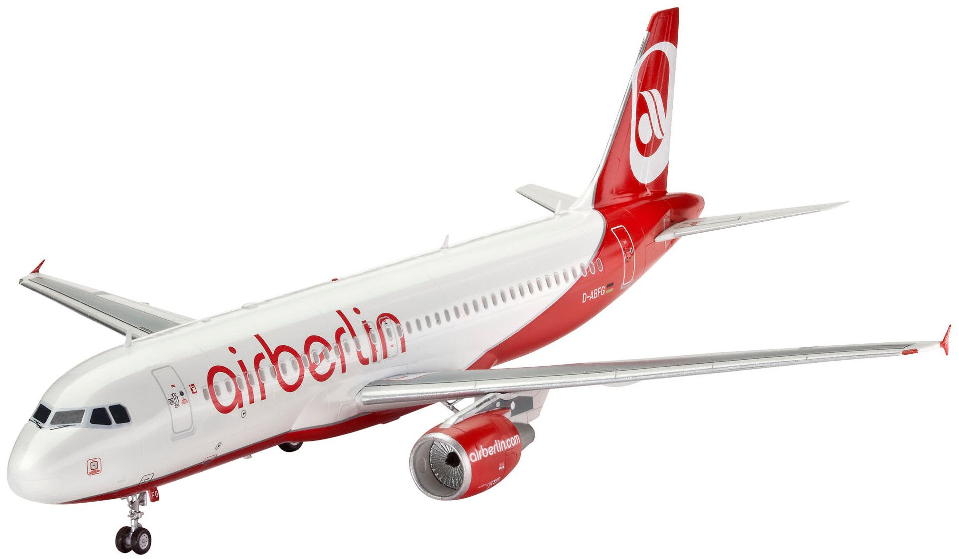 Сглобяем модел на самолет Revell - Airbus A320 AirBerlin (04861) - 1