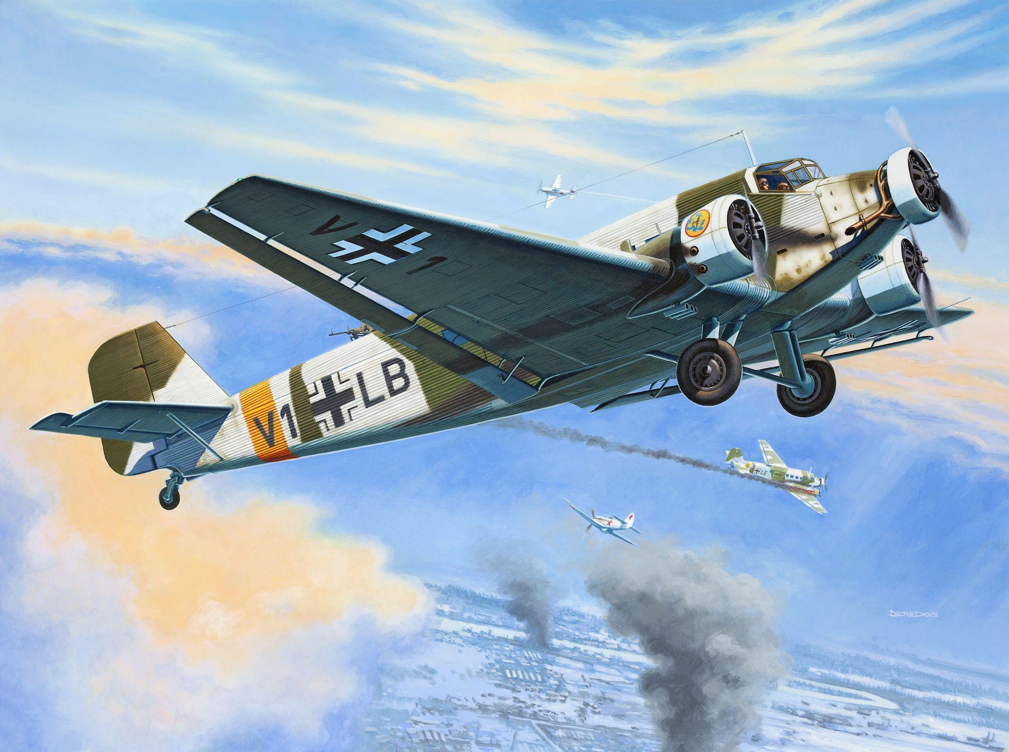 Сглобяем модел на военен самолет Revell Junkers - Ju52/3m (04843) - 2