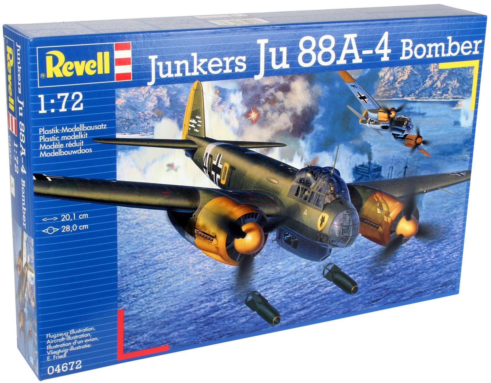 Сглобяем модел на военен самолет Revell Junkers - Ju88 A-4 Bomber (04672) - 8