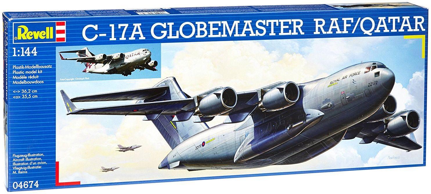Сглобяем модел на военен самолет Revell - C-17 Qatar/RAF (04674) - 2