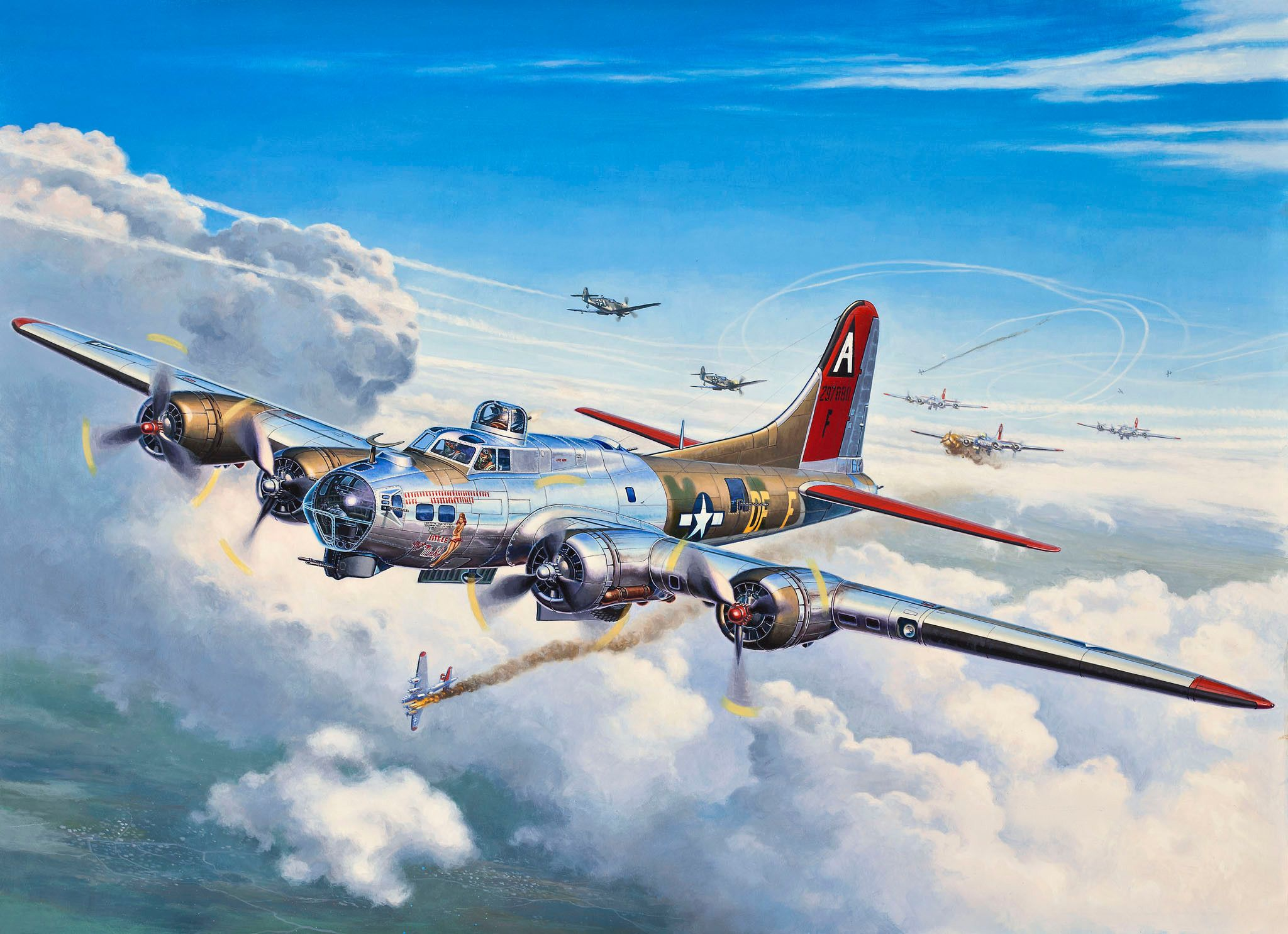 Сглобяем модел на военен самолет Revell - B-17G Flying Fortress (04283) - 2
