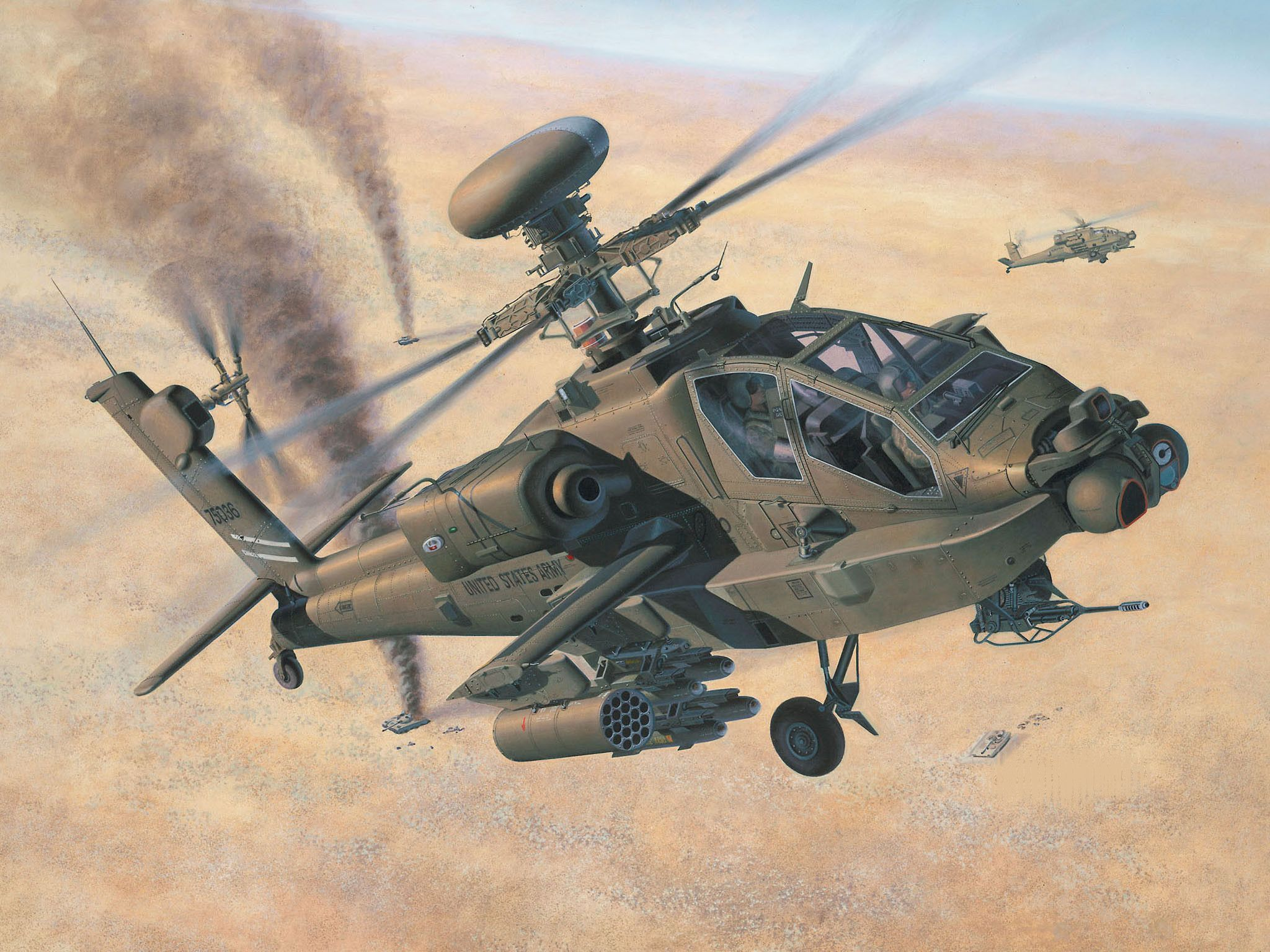 Сглобяем модел на хеликоптер Revell - AH-64D Longbow Apache/WAH-64D (04420) - 2