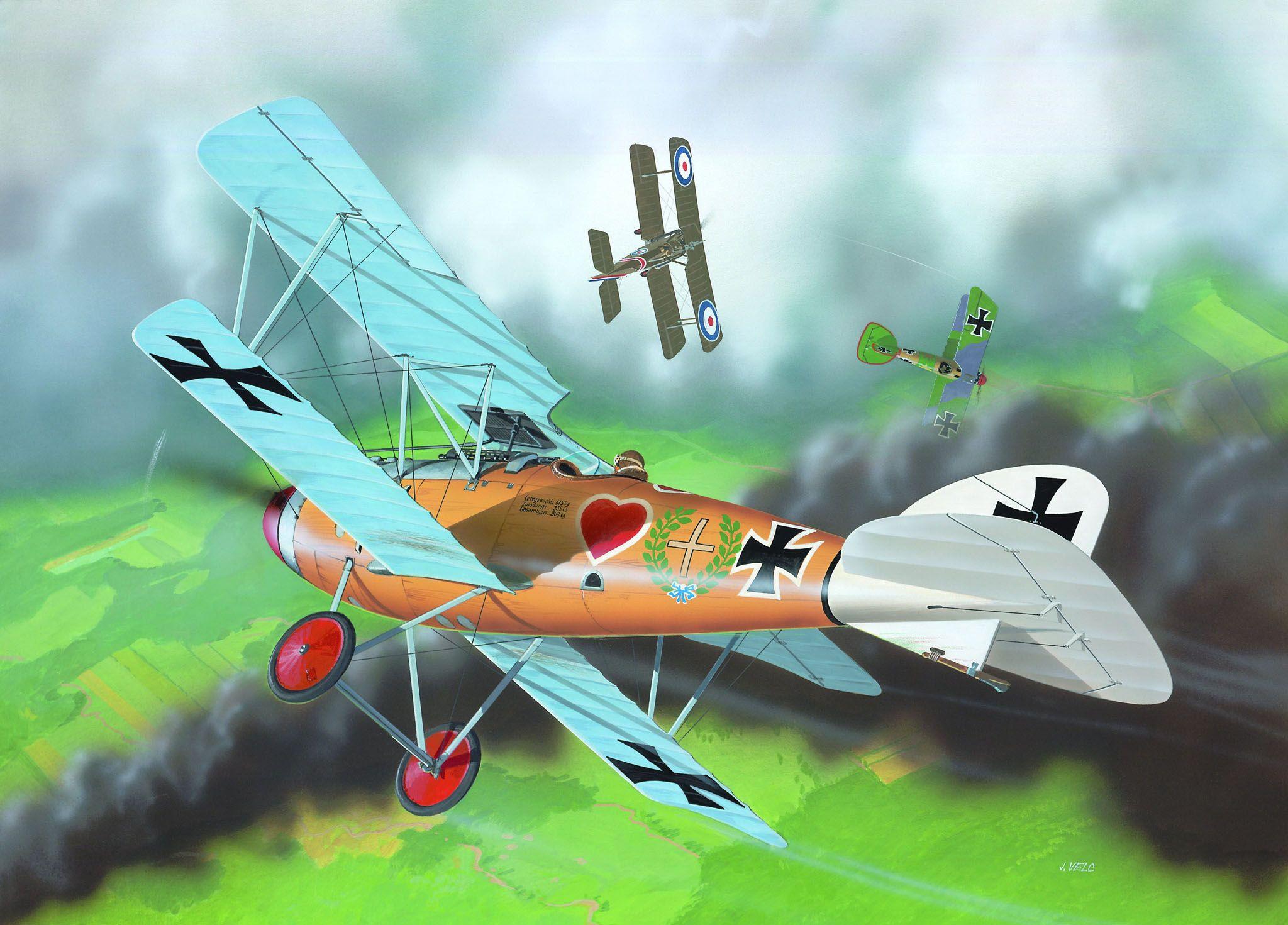 Сглобяем модел на военен самолет Revell - Albatross D.III (04062) - 3