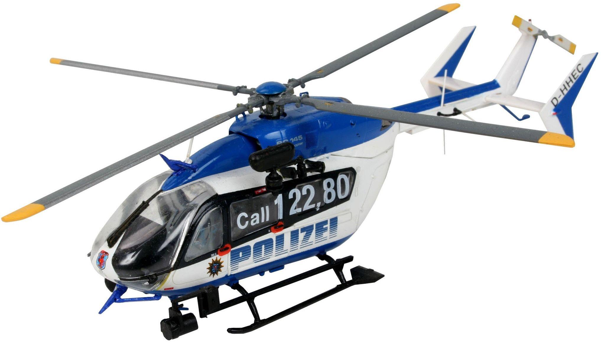 Сглобяем модел на полицейски хеликоптер Revell Eurocopter - EC145 Police/Gendarmerie (04653) - 1