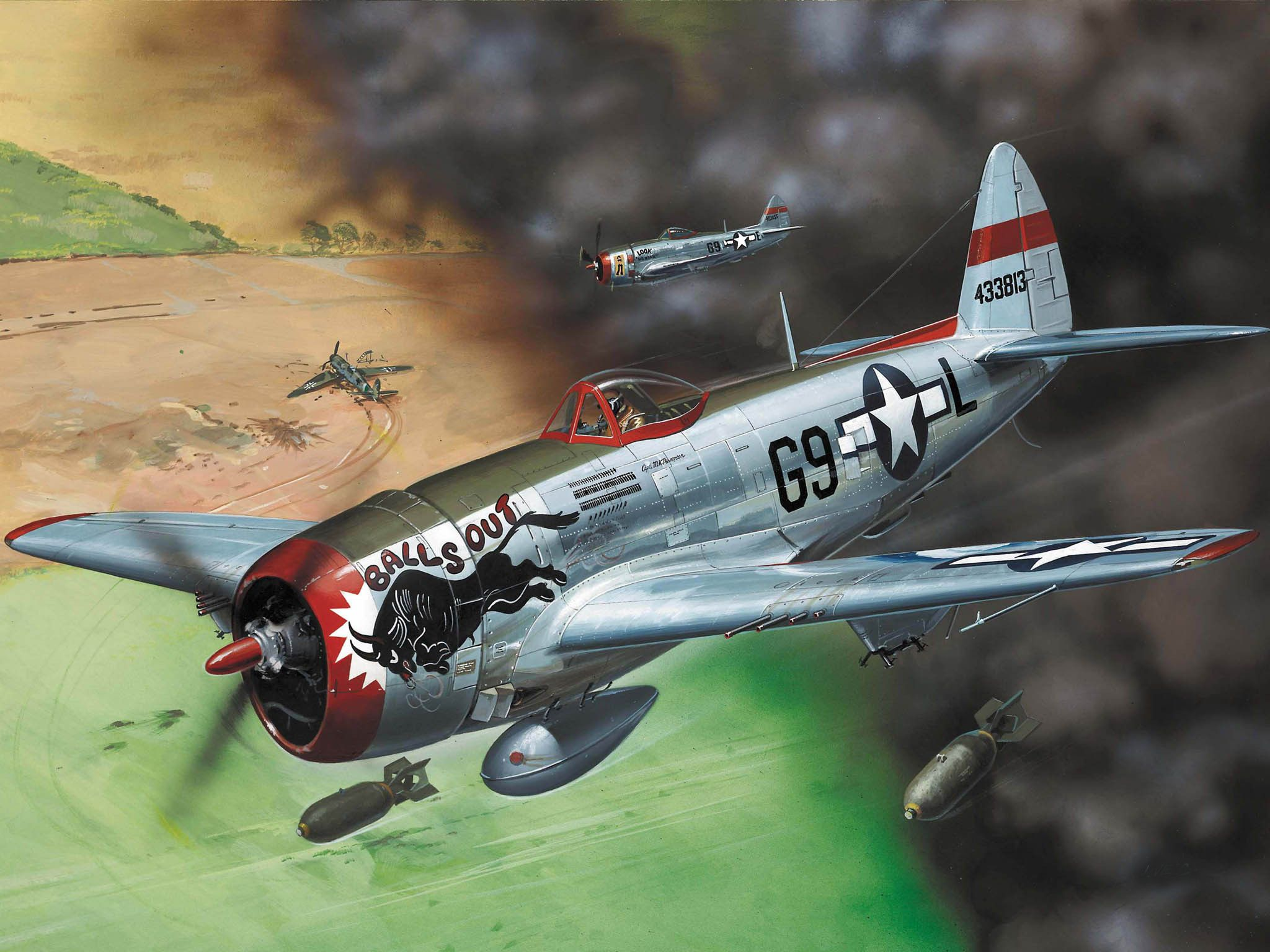 Сглобяем модел на военен самолет Revell - P-47 D Thunderbolt (04155) - 2