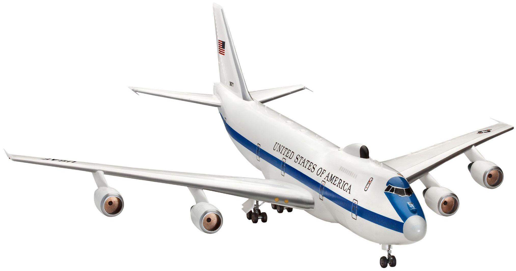 Сглобяем модел на самолет Revell - E-4B Airborne Command Post (04663) - 1