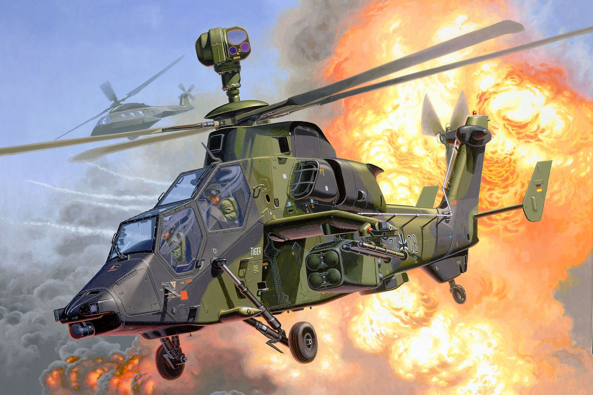 Сглобяем модел на военен хеликоптер Revell - Eurocopter Tiger (04485) - 2