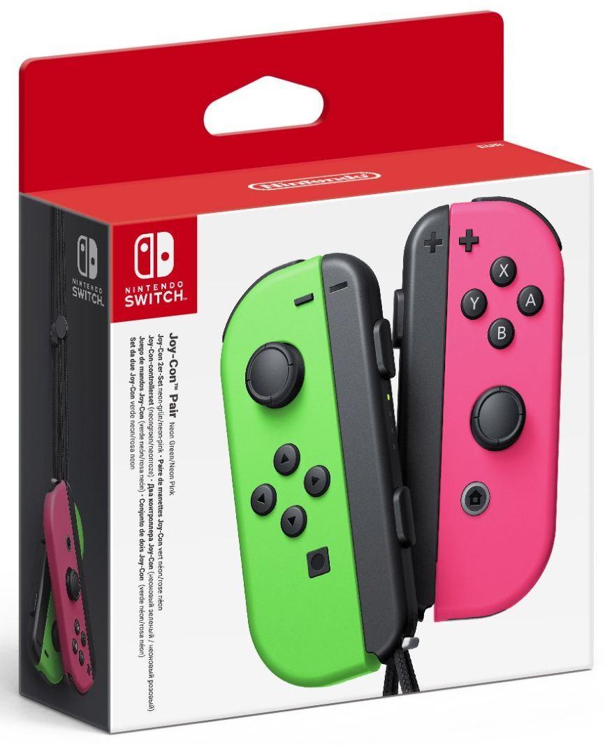 Nintendo Switch Joy-Con (комплект контролери) - зелено/розово - 1