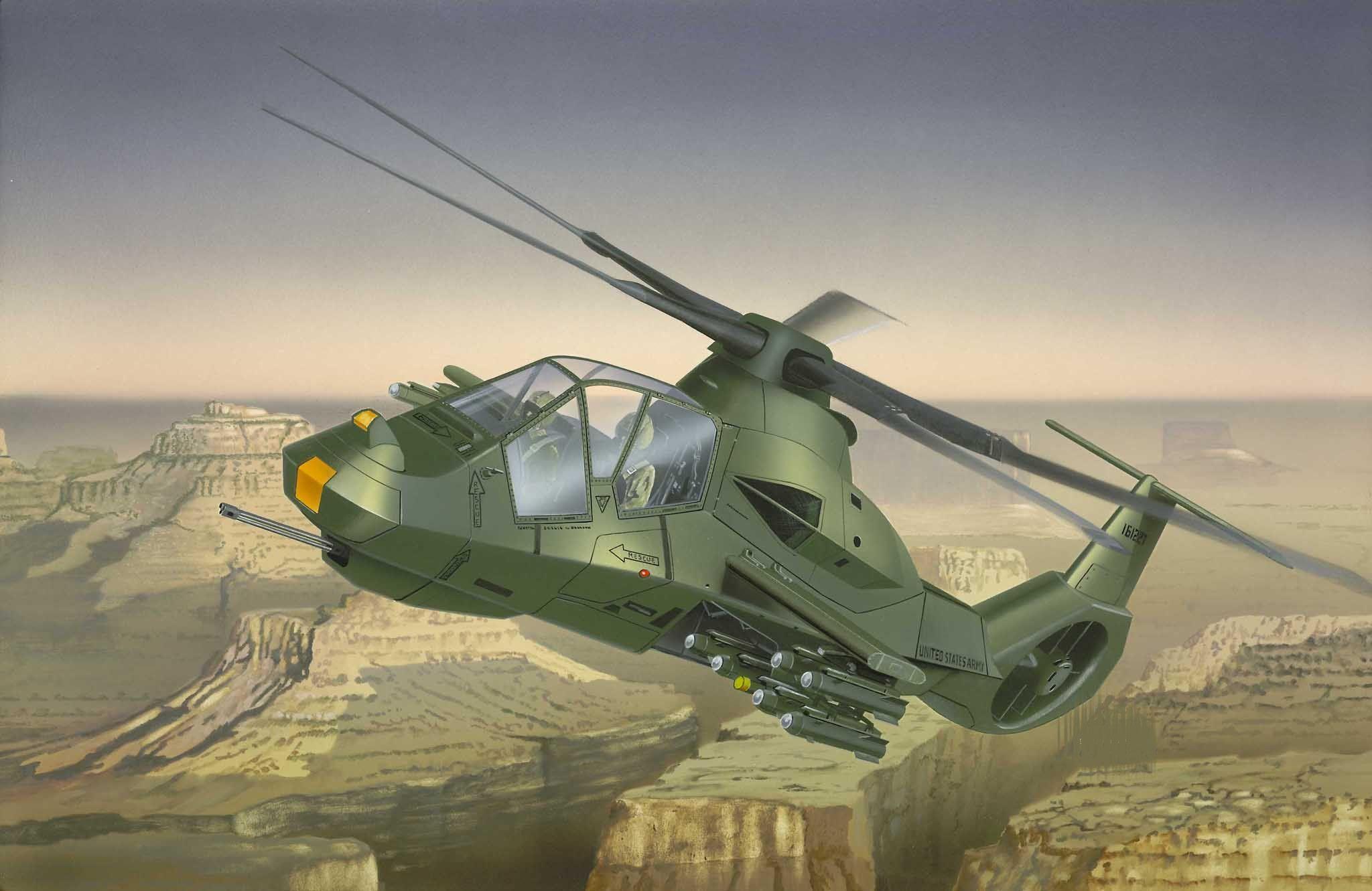 Сглобяем модел на военен хеликоптер Revell - RAH.66 Comanche (04469) - 2