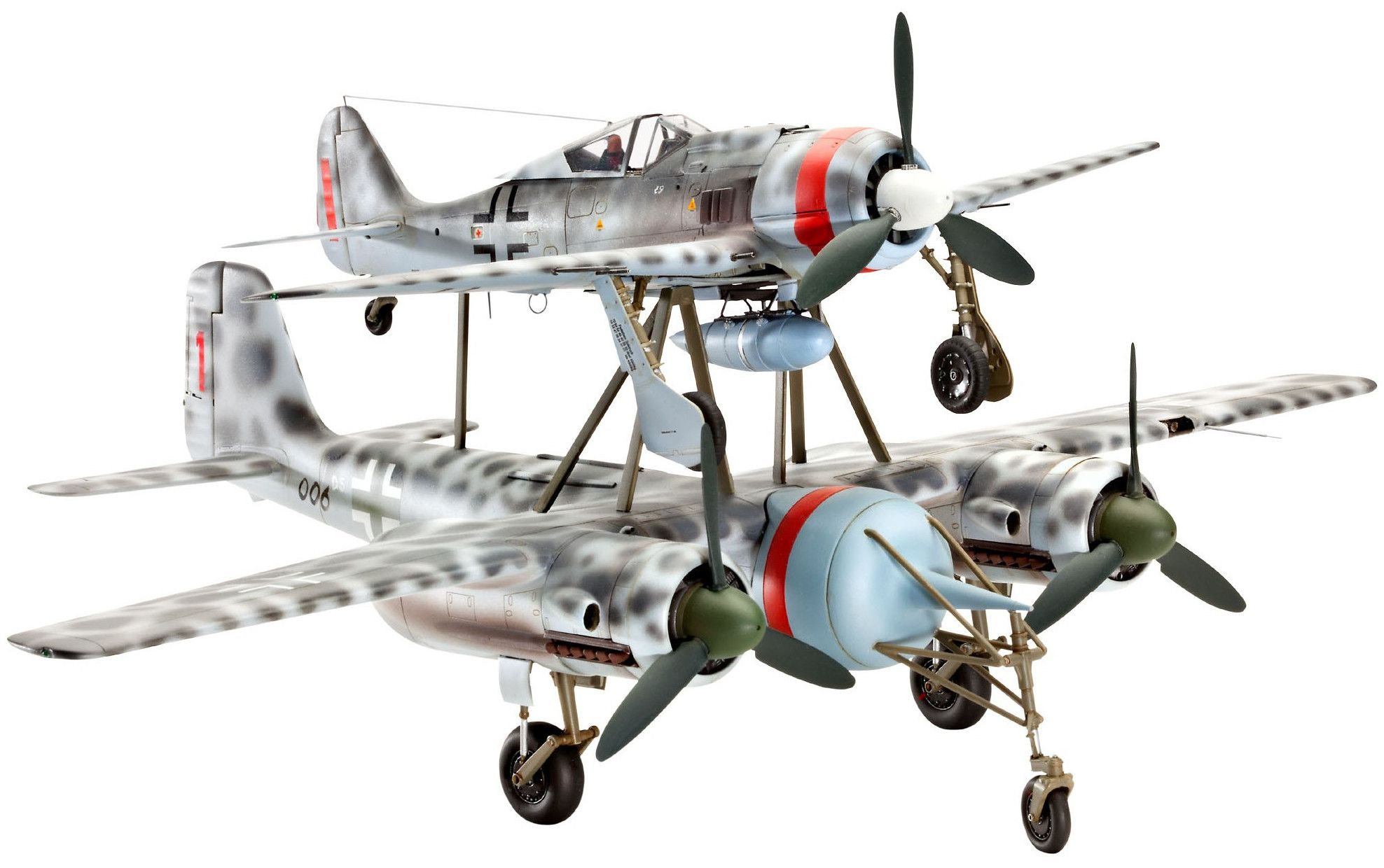 Сглобяем модел на военен самолет Revell - MISTEL V Ta154 & Fw190 (04824) - 1