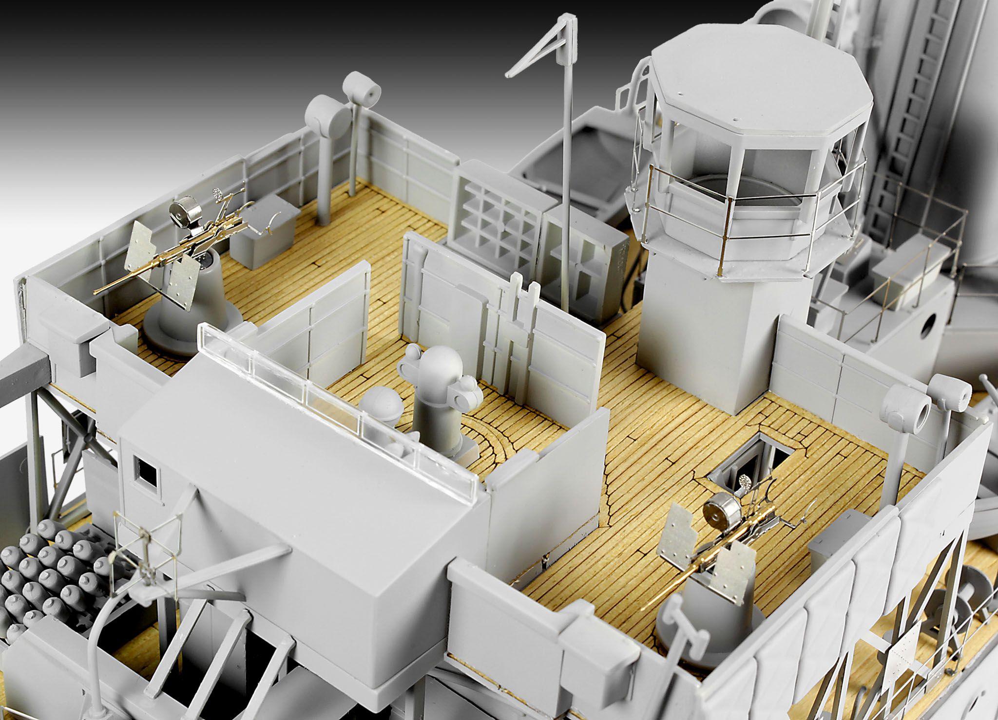 Сглобяем модел на военен кораб Revell - FLOWER CLASS CORVETTE Platinum Edition (05112) - 6