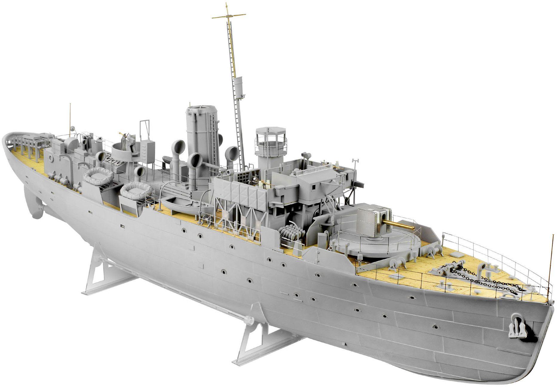 Сглобяем модел на военен кораб Revell - FLOWER CLASS CORVETTE Platinum Edition (05112) - 1