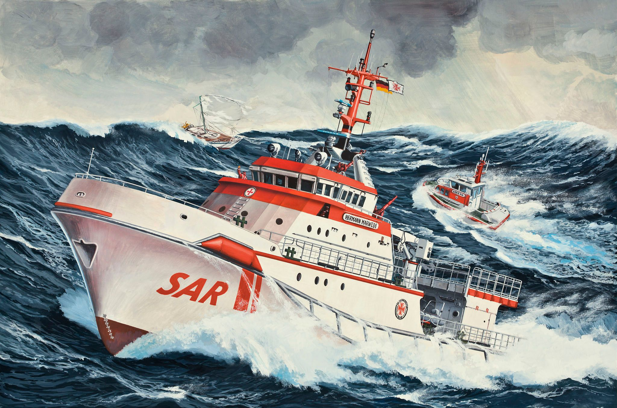 Сглобяем модел на кораб Revell - DGzRS Hermann Marwede (05812) - 2