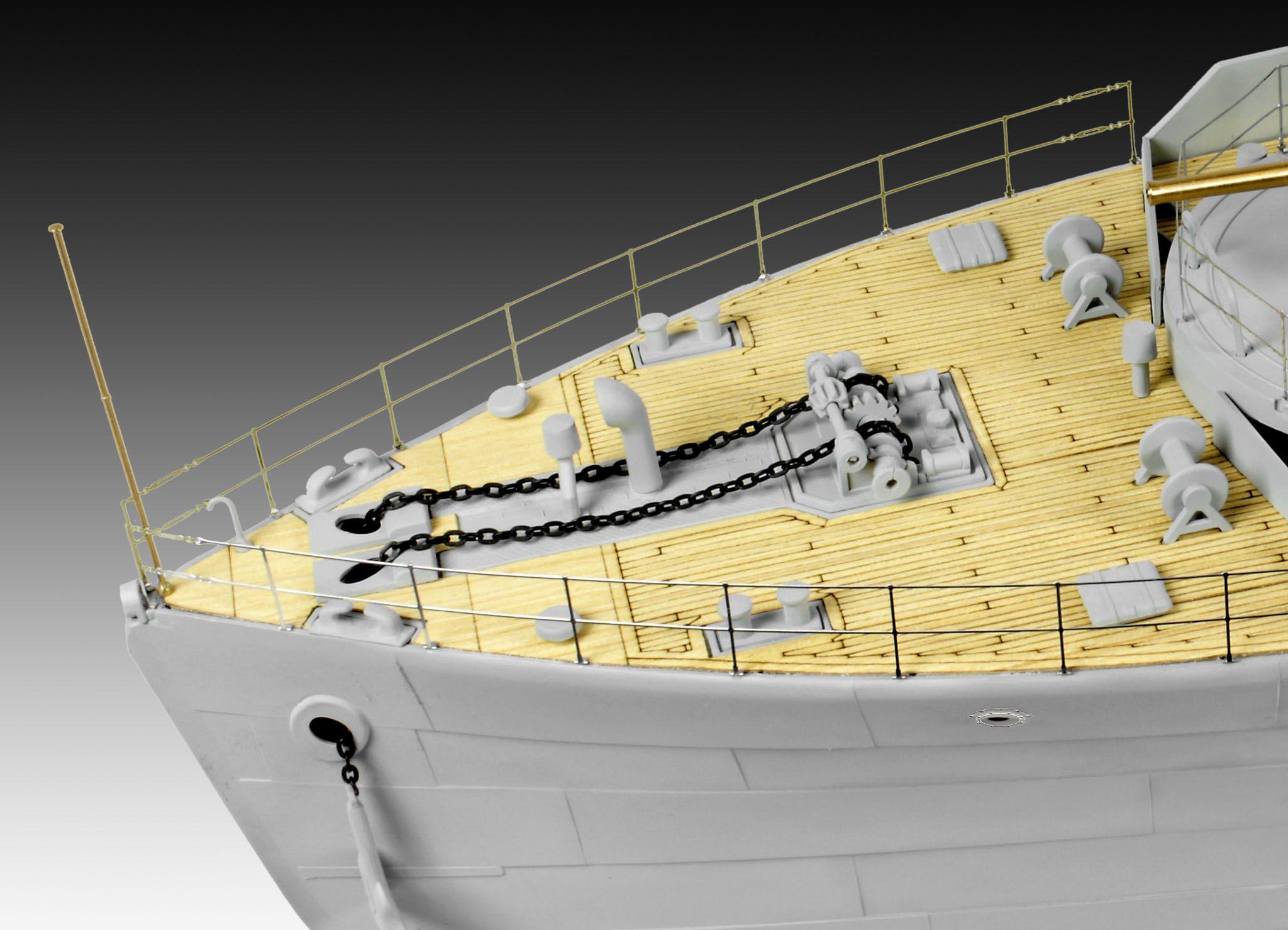 Сглобяем модел на военен кораб Revell - FLOWER CLASS CORVETTE Platinum Edition (05112) - 3