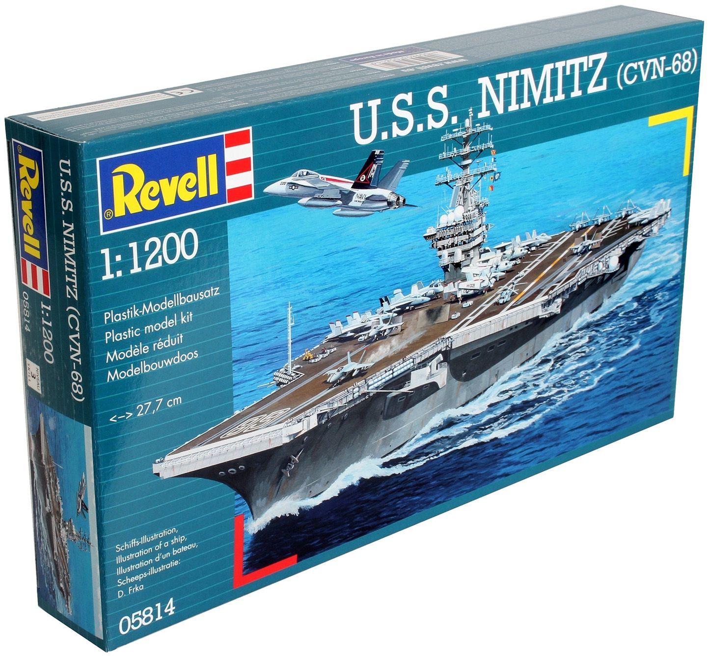 Сглобяем модел на военен кораб Revell - U.S.S. Nimitz (CVN-68) (05814) - 3