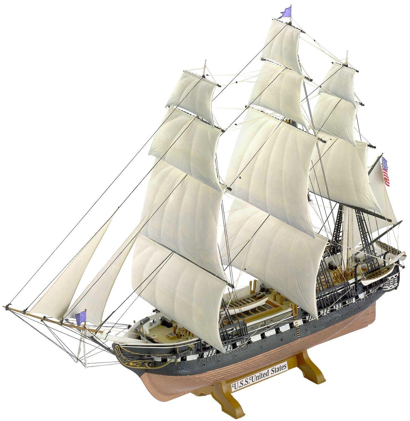 Сглобяем модел на ветроходен кораб Revell - USS United States (05406) - 1