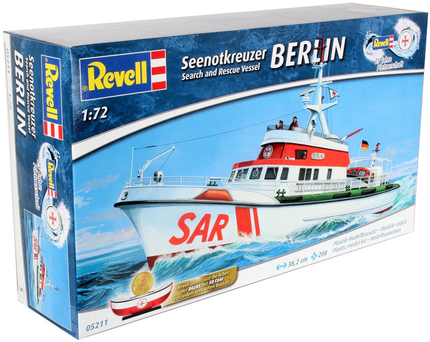 Сглобяем модел на кораб Revell - Search & Rescue Vessel BERLIN (05211) - 3