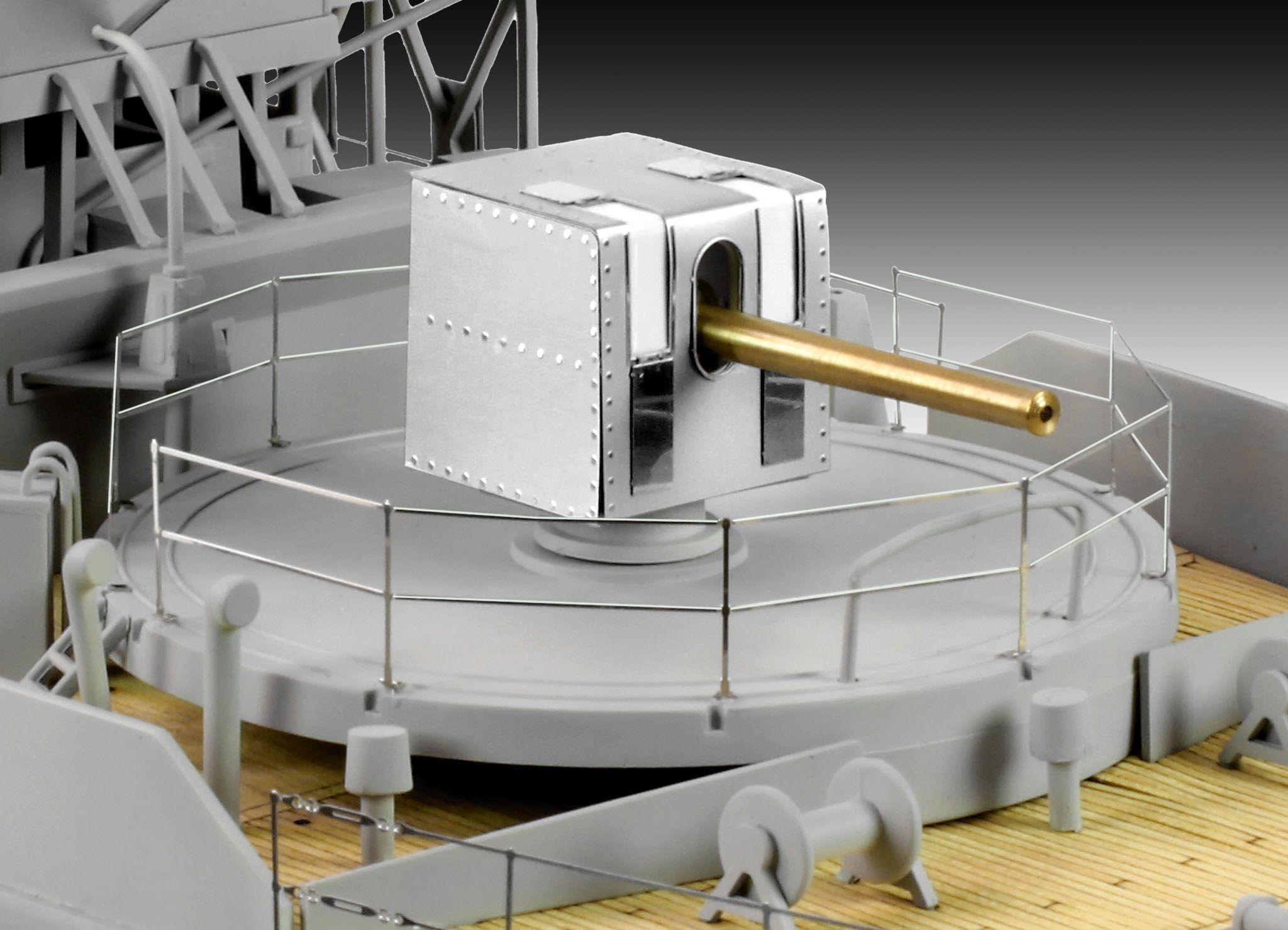 Сглобяем модел на военен кораб Revell - FLOWER CLASS CORVETTE Platinum Edition (05112) - 7