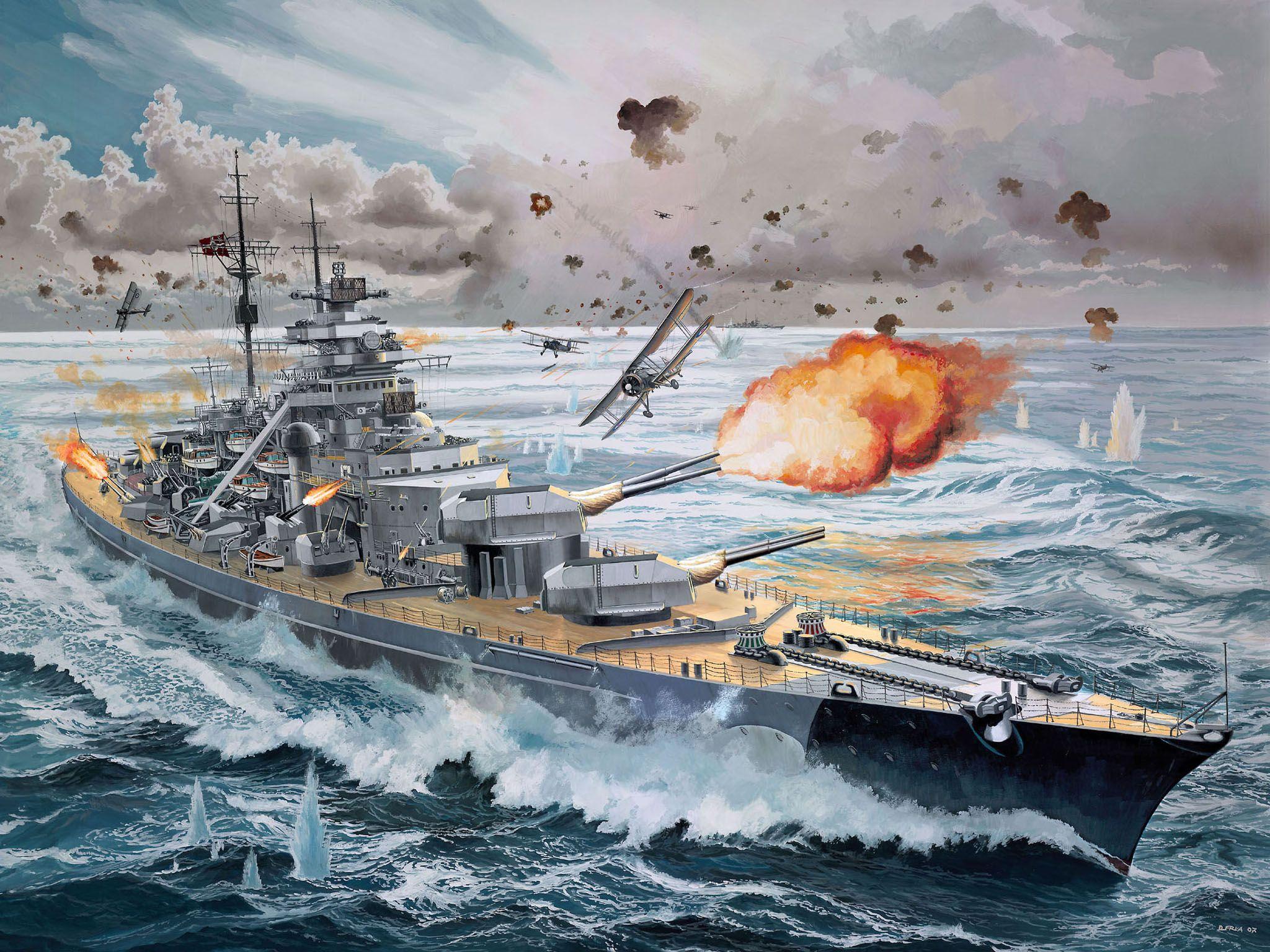 Сглобяем модел на военен кораб Revell - Battleship BISMARCK (05040) - 2