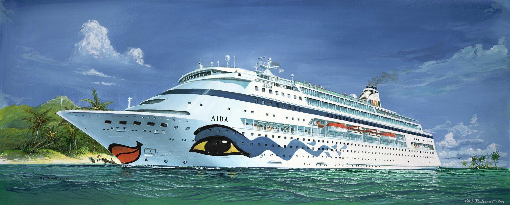 Сглобяем модел на пътнически кораб Revell - AIDA (05805) - 3