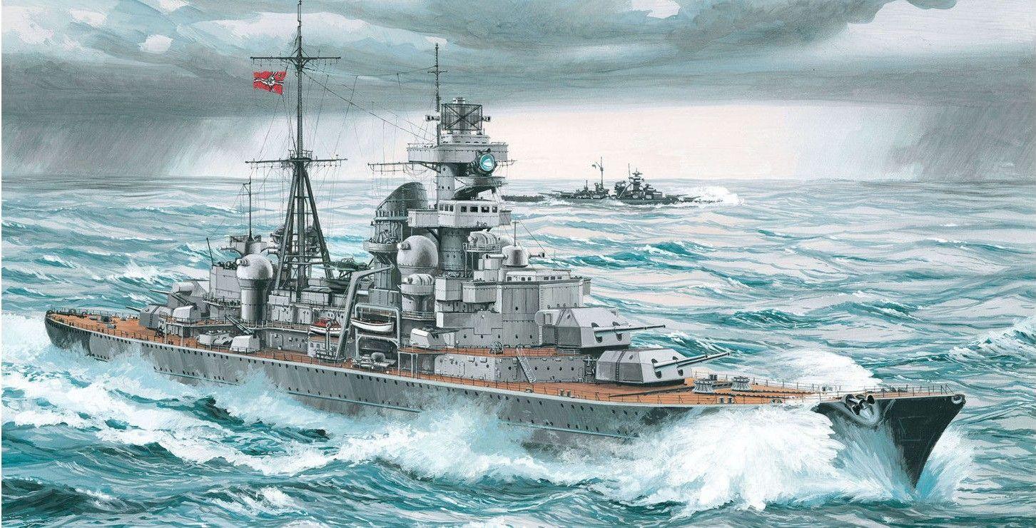 Сглобяем модел на военен кораб Revell - German Heavy Cruiser PRINZ EUGEN (05050) - 2