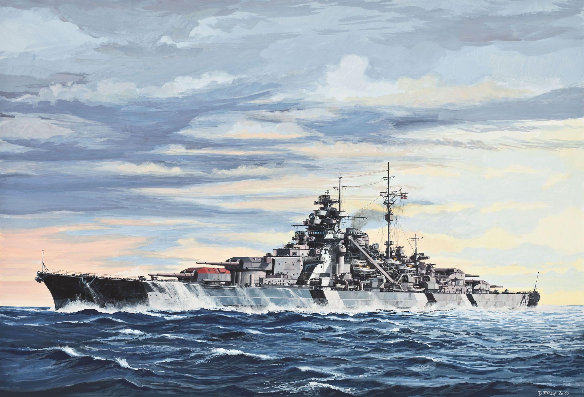 Сглобяем модел на военен кораб Revell - Battleship BISMARCK (05098) - 2