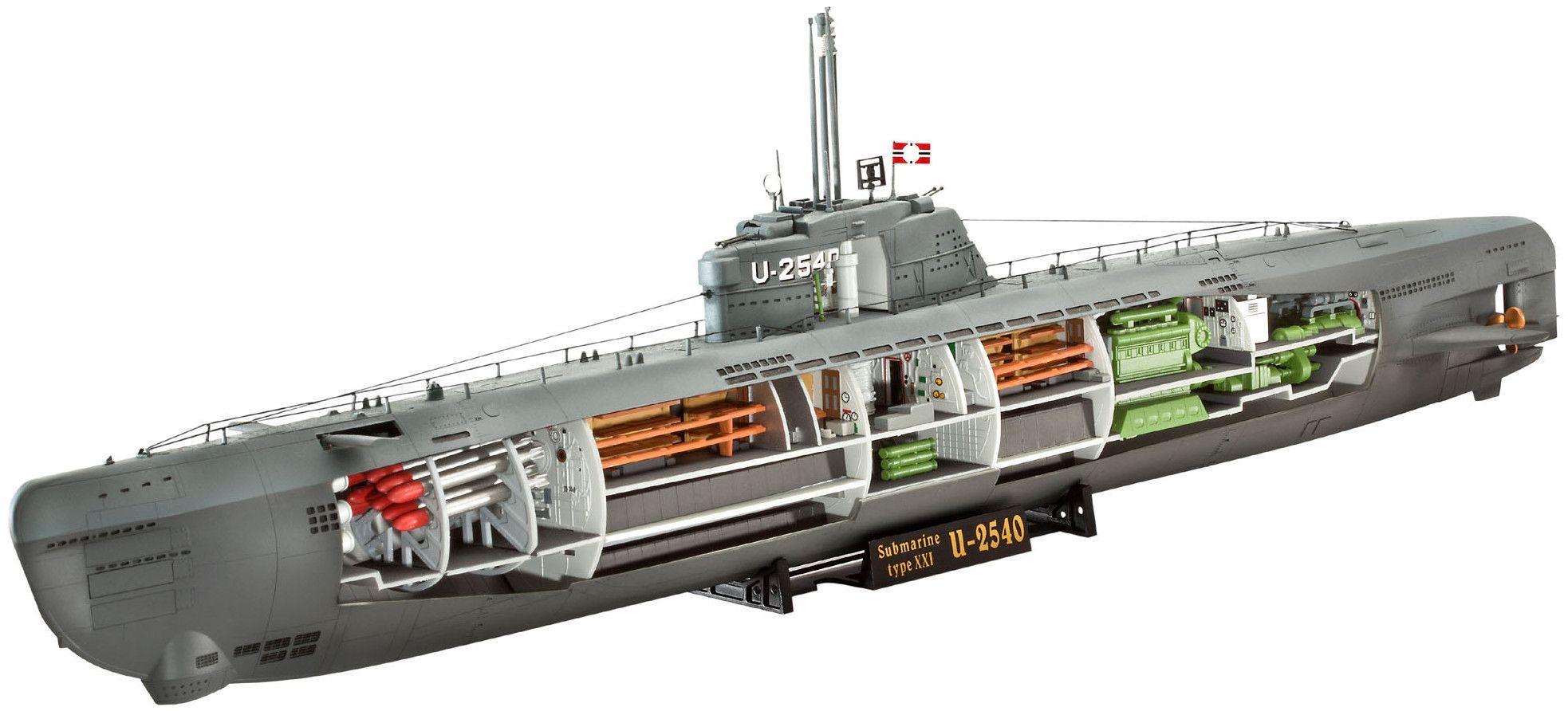 Сглобяем модел на подводница Revell - U-Boat Typе XXI (05078) - 1