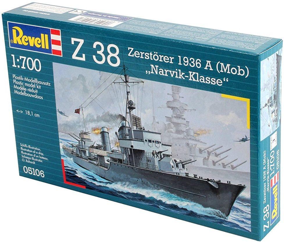 Сглобяем модел на военен кораб Revell - Type 36 A (Mob) Destroyer (05106) - 2