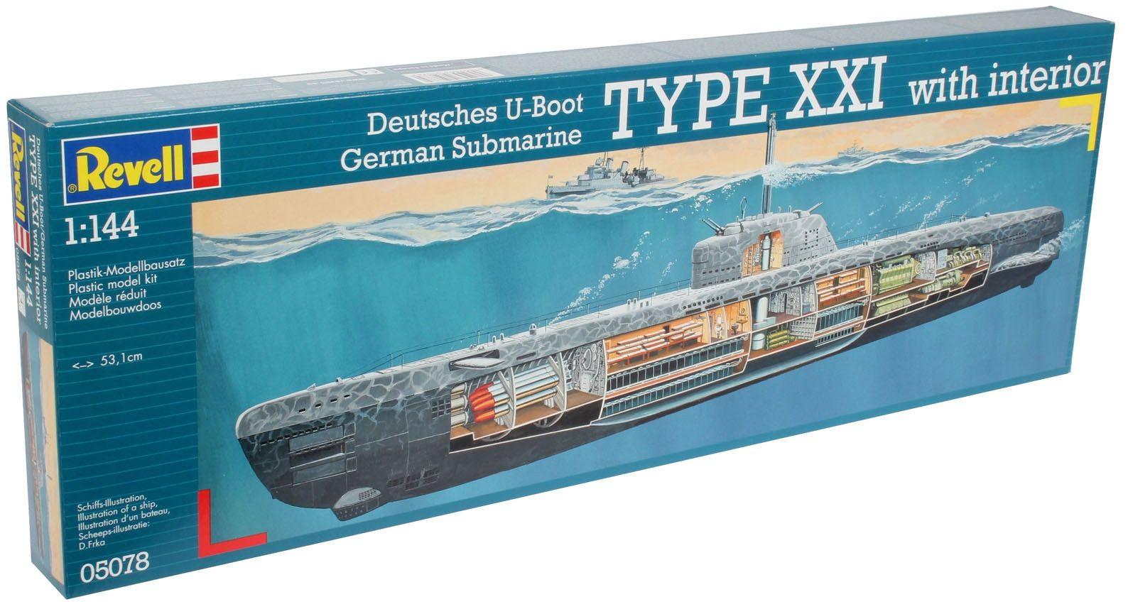 Сглобяем модел на подводница Revell - U-Boat Typе XXI (05078) - 7